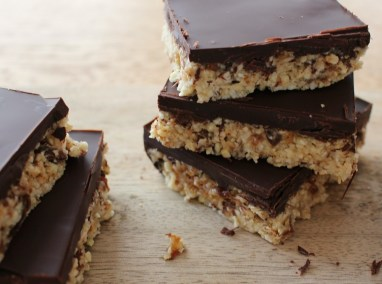 Chocolate Covered Paleo Flapjack Recipe by The Wonky Spatula