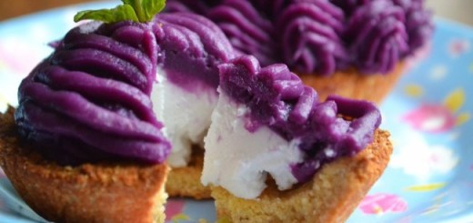 Purple Sweet Potato Mousse Tartlets Recipe by My Nutrition