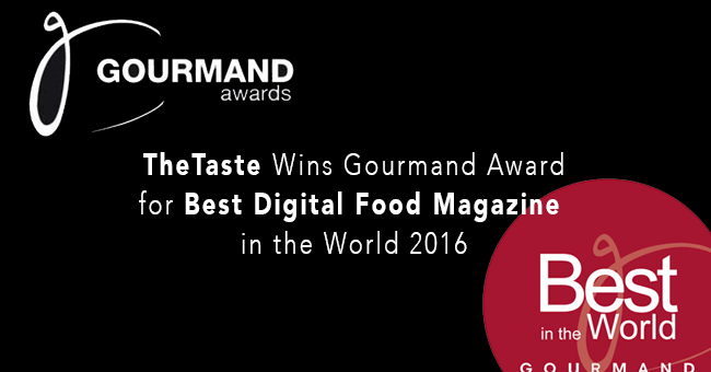 TheTaste Gourmand World Cookbook Awards 2016