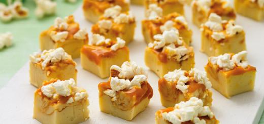 Salted Caramel Pop Corn Fudge Recipe by Sharon Hearne Smith