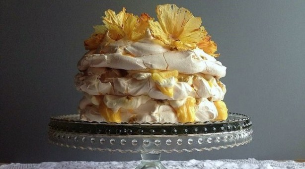 Pineapple & Passion Fruit Pavlova Recipe by Niamh Mannion