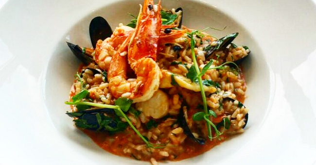 Seafood Risotto Recipe from Wrights Findlater Howth