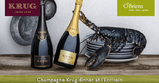 O'Briens and Krug Teamed to Host Champagne Dinner at L'Ecrivain