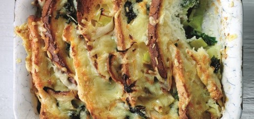 Savoury Cheese Kale Bread Pudding
