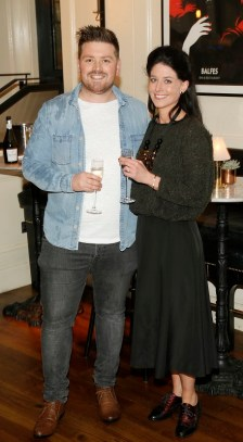 Thomas Cross and Hollie Creedon at BALFES Dublin attending the official Irish launch party for Thomson & Scott Skinny Prosecco