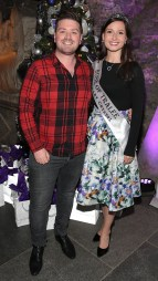 Thomas Crosse and Rose of Tralee Maggie McEldowney at The Loop's Joy of Giving Christmas launch at The Crypt in Chirstchurch,Dublin. Picture Brian McEvoy No Repro fee for one use