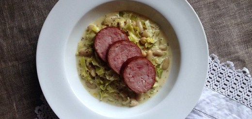 Mustard Creamed Leeks & Cannellini Beans Recipe with Morteau Sausage by Niamh Mannion
