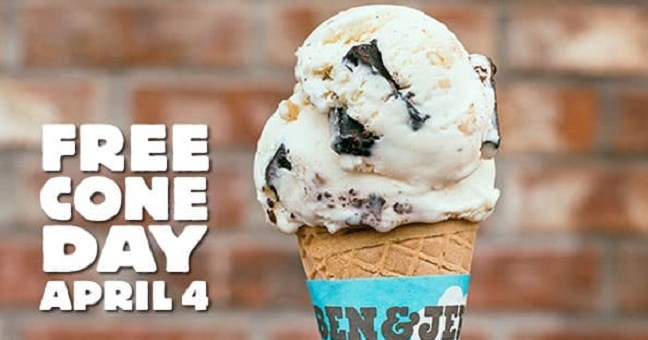 Ben & Jerry's Free Cone Day, Free Ice Cream