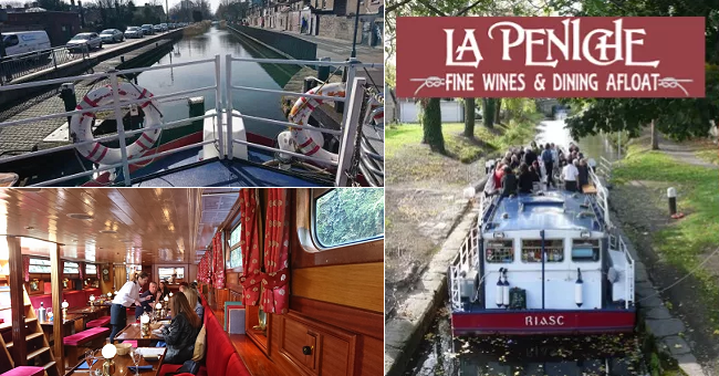 Win a Cruise Around Dublin's Grand Canal with Dinner for two and a Bottle of Wine Aboard La Paniche