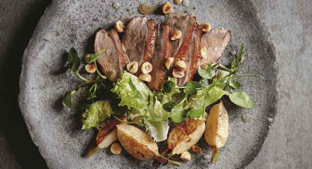 warm salad of warm duck rachel Allen