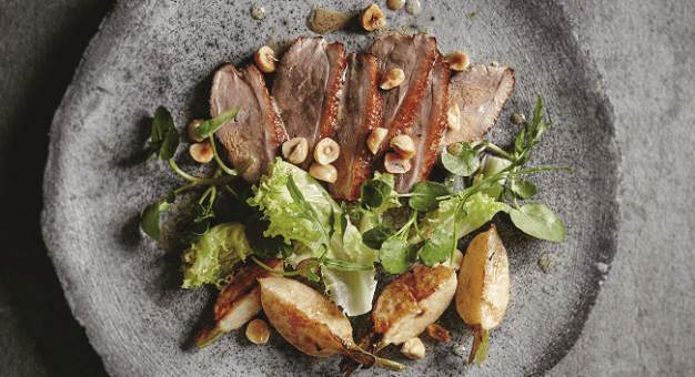 warm salad of warm duck rachel Allen