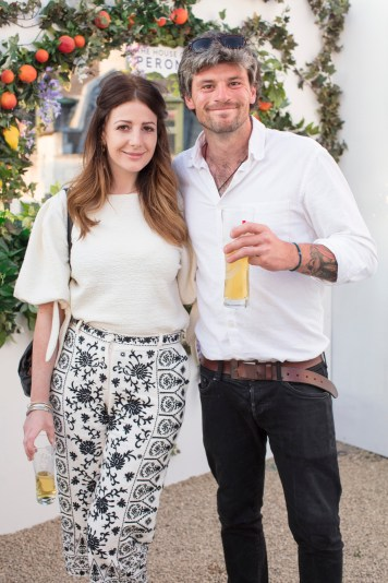 Adam Steele & Grace Cahill pictured at the launch of The House of Peroni in Dublin. The House of Peroni is open to the public from 25th of May to 4th of June at 1 Dame Lane, showcasing the best of contemporary Italian food and drink. Over 18s only. For more info visit www.thehouseofperoni.com. Photo: Anthony Woods