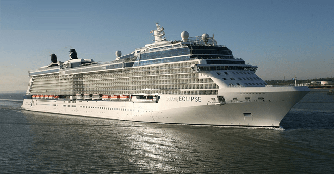 Celebrity Cruises Luxury Ship Eclipse Disembarks in Dublin Today