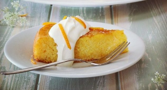 Orange elderflower polenta cake 2