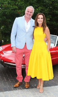 NO REPRO FEE 15/06/2017 La Dolce Vita at InterContinental Dublin Midsummer Party. Pictured last night were Brent Pope and Lorraine Keane and Doireann Garrihy as over 300 invited guests gathered at the five-star InterContinental Dublin in Ballsbridge for a La Dolce Vita-themed midsummer garden party. Guests enjoyed a feast of Italian fare and sipped on refreshing Aperol Spritzes, Prosecco and Gunpowder Gin classic Negronis, as Swing band the Irish Rat Pack entertained the crowd with their jazzy big band numbers. A 1968 Alfa Romeo Spider even made an appearance to top off the La Dolce Vita experience! Photograph: Leon Farrell / Photocall Ireland