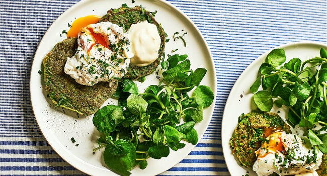Pea And Herb Pancakes