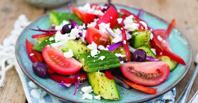 Greek-Style Cucumber Salad