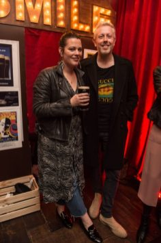 Pictured in Arthur's Bar celebrating 40 years of the Guinness Cork Jazz Festival is Corina Gaffey and Anthony Remedy. Photo by Ruth Medjber
