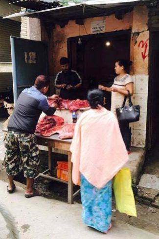Local butchers_kathmandu