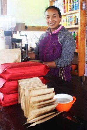 Sherpa Coffee House barista