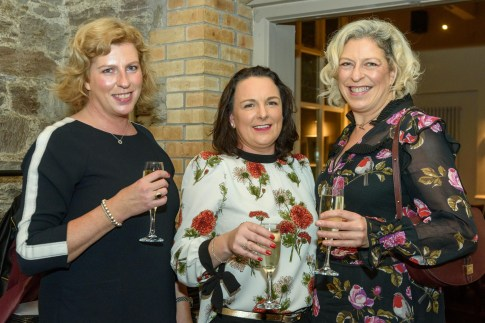 Pictured at the Rhône Valley Wine Week Dinner in Greenes Restaurant, Cork, in association with Château Pesquié and Tindal Wine Merchants , were Maria Noonan, Kinsale; Annette Magner, Glanmire and Siobhan Noonan, Newcastle West. Picture. John Allen