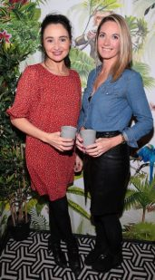 Lucy Edge and Kara Herriot pictured at The Monkey Haus hosted by Alexander Stein Founder of Monkey 47 at The Wilde Merrion Square, Dublin.Pic Brian McEvoy