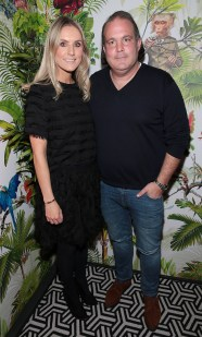 Jill Moloney and Alexander Stein pictured at The Monkey Haus hosted by Alexander Stein Founder of Monkey 47 at The Wilde Merrion Square, Dublin. Pic Brian McEvoy