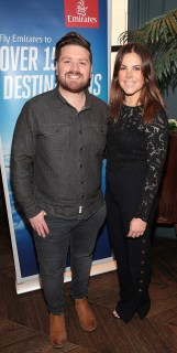 Thomas Crosse and Rochelle Flett pictured at the Emirates Dubai Brunch at the Dean Hotel,Dublin. Pic Brian McEvoy No Repro fee
