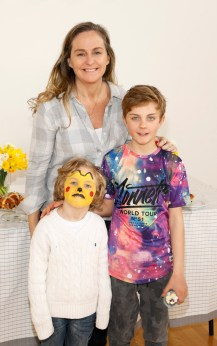 Debbie O'Donnell with her sons Sam (5) and Marcus Carroll (10) at Siúcra's Easter event