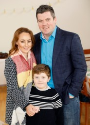 Hugh Long with his wife Stacey and Son Alex at Siúcra's Easter event