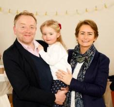 Mark, Hannah aged 3 and Liz Morgan from Knocklyon