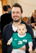 Michael Scherbaum with his son Adhran aged 9 months