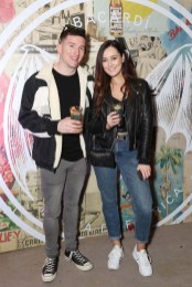 Evan Doherty and Rachel Purcell pictured at the launch of BACARDÍ Cuatro and Ocho, which were officially introduced in true prohibition style last night at an exclusive speakeasy event off Camden Street. Pic: Marc O'Sullivan