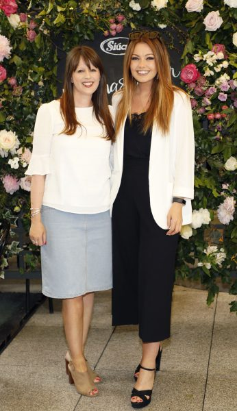 Claire Guiney and Stephanie Whisker at the launch of Siúcra's new summer recipes by chef Catherine Fulvio held at the Woolen Mills Dublin.photo Kieran Harnett no repro fee