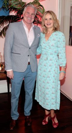 Brent Pope and Rachel Sherry at the launch of Emirates Holidays in Ireland at Cliff Townhouse Dublin. Pic: Brian McEvoy.