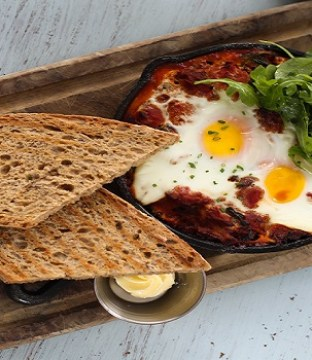 Spicy Baked Eggs Recipe with Pulled Pork From Gourmet Food Parlour