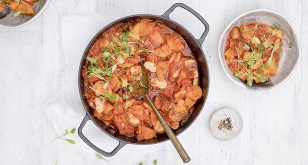 Sweet potato and butterbean stew