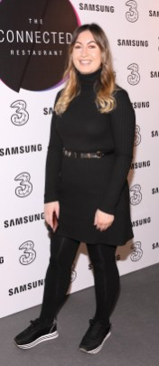 Lisa Delaney pictured at the opening of the world's first Connected Restaurant, powered by Three and Samsung. Open for four days, The Connected Restaurant, welcomes diners in Ireland and Australia with one half of the restaurant in Dublin and the other in Sydney bringing family and friends who are separated this festive season together for Christmas dinner, as if sitting at the same table. Pic Brian McEvoy Photography No Repro fee for one use