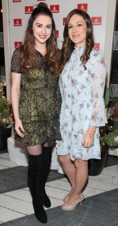 Niamh Devereux and Fiona Thornton pictured at the Emirates Christmas Down Under party at House in Leeson Street,Dublin. Pic Brian McEvoy No Repro fee for one use