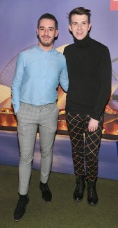 Darragh Ashmore and Mikie O Loughlin pictured at the Emirates Christmas Down Under party at House in Leeson Street,Dublin. Pic Brian McEvoy No Repro fee for one use