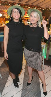 Yolanda Zaw and Rebecca Brady pictured at the Emirates Christmas Down Under party at House in Leeson Street,Dublin. Pic Brian McEvoy No Repro fee for one use
