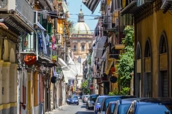 Medieval street in Palermo, Sicily