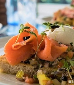 Smoked Salmon Bruschetta on Toasted Sourdough Recipe from The Blue Bar in Skerries #DubPubDishes