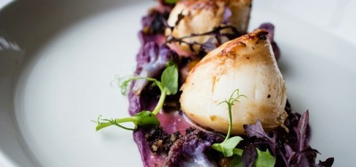 Pan Seared Scallops, Purple Cauliflower & Smoked Bacon Recipe From Armada Hotel Spanish Point