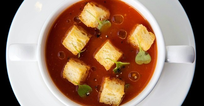 Roast Plum Tomato & Basil Soup Recipe By Chef Igor From The Gibson