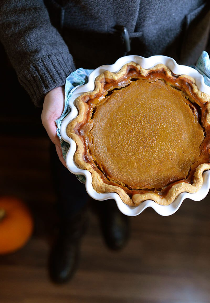 Have you made fresh pumpkin purée? It's simple and flavorful. Here's one of the best Thanksgiving pumpkin pie recipes! Serve with whipped cream or ice cream. Learn more on thetasteedit.com #thanksgiving