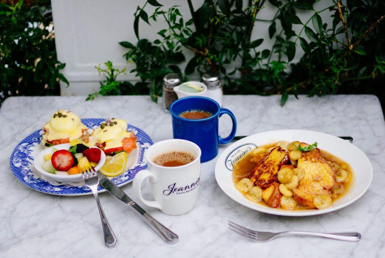 Eggs Norwegian and Banana Kahlua French Toast at Jeannine's   thetasteedit.com #travel #breakfast #santabarbara #california