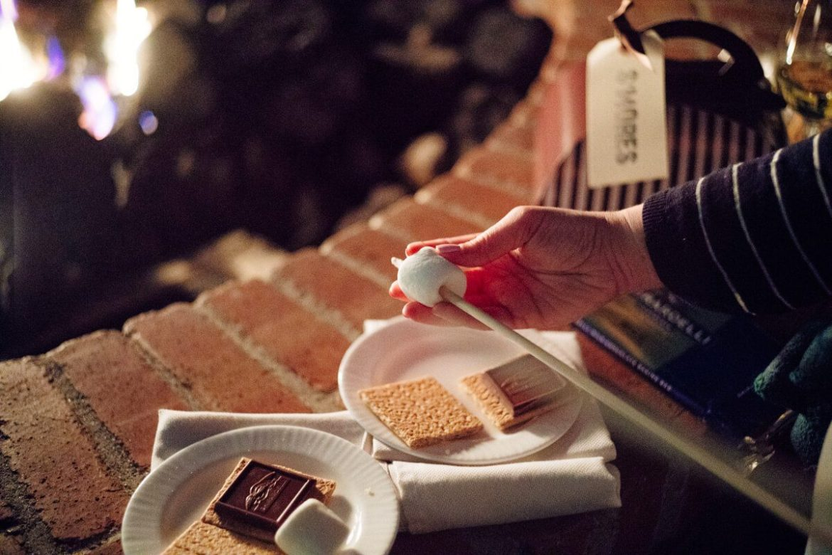 The Taste Edit roasted marshmallows to make S'mores at the fire pits at The Ritz-Carlton Half Moon Bay