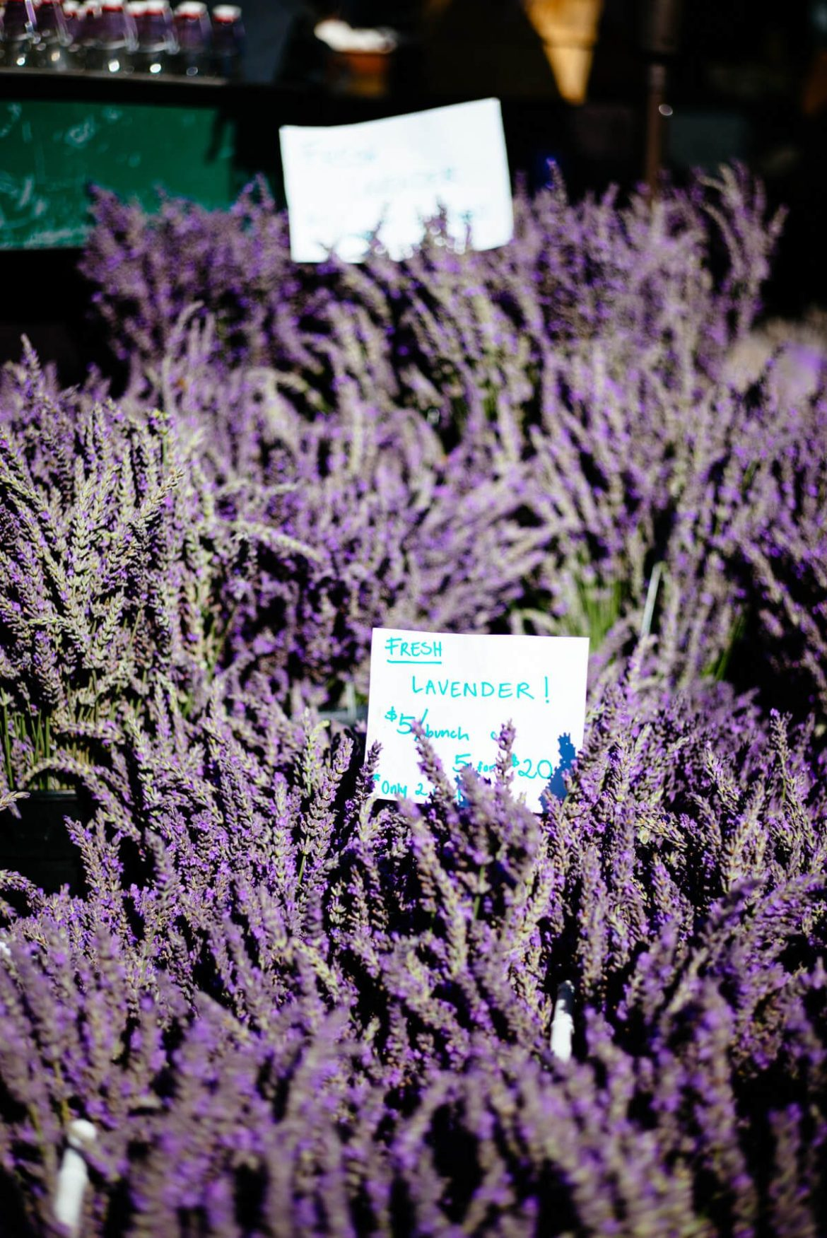 Lavender from eat well cuesa farmers market with the taste edit