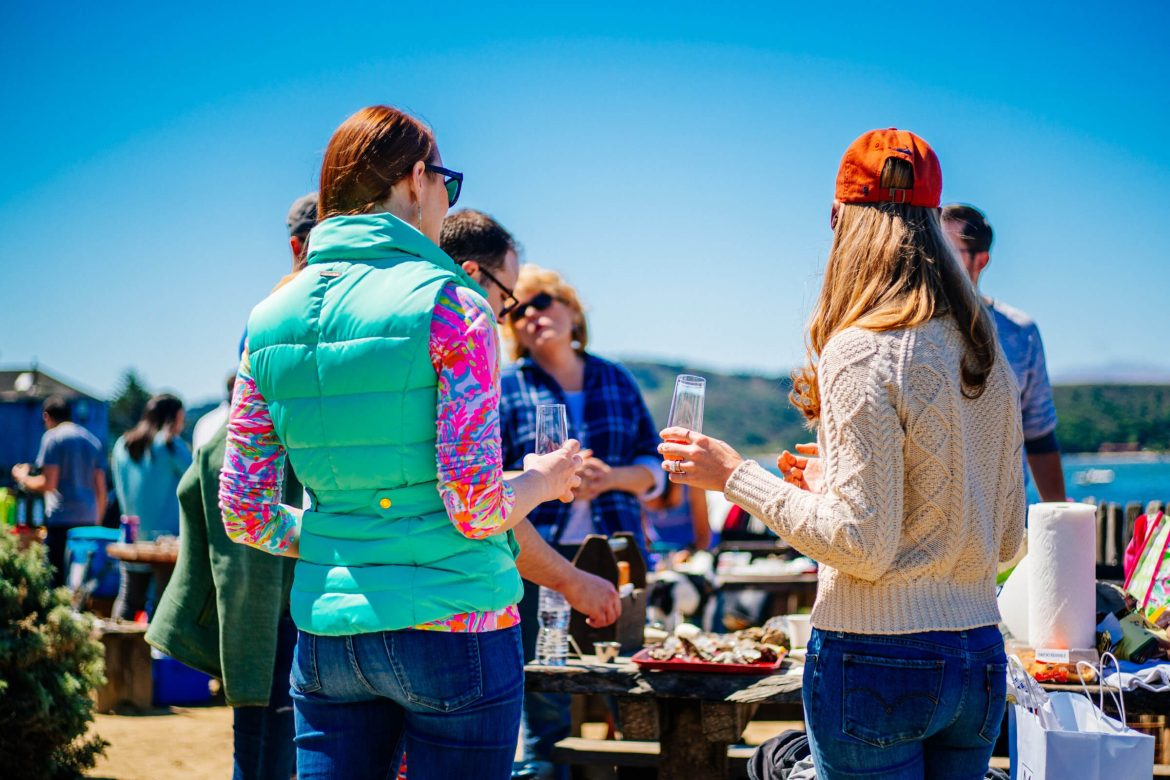 The Taste Edit picnics at a shuck your own picnic with friends at Hog Island Oyster Farm in Marshall, Ca - Tamales Bay